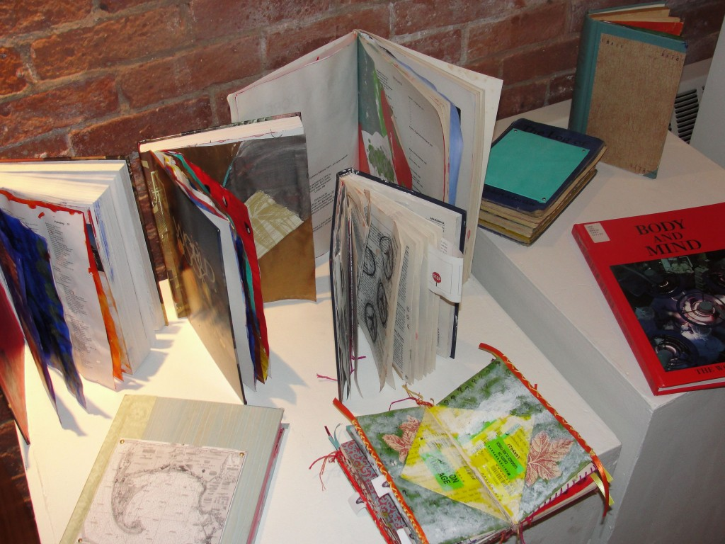 some of the altered books in the student gallery