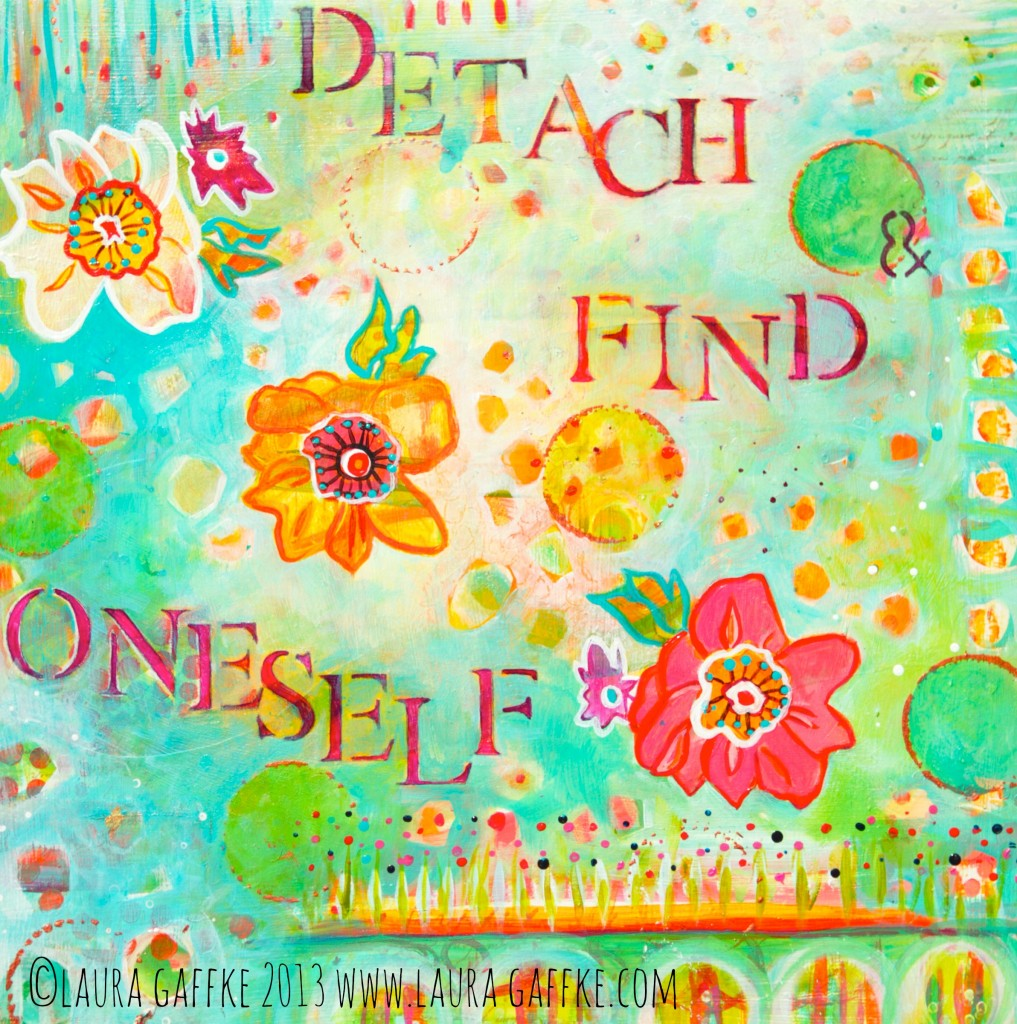 Detach and find oneself, flowers