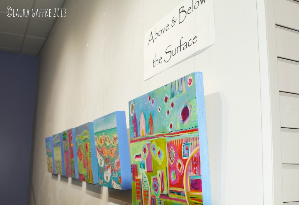 above & below the surface wall at gallery