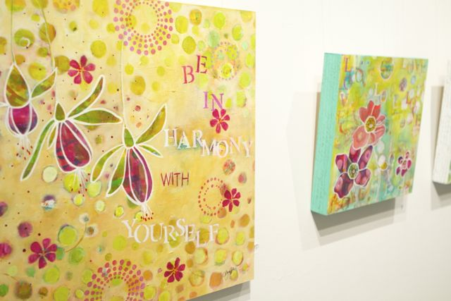 affirmation paintings in gallery
