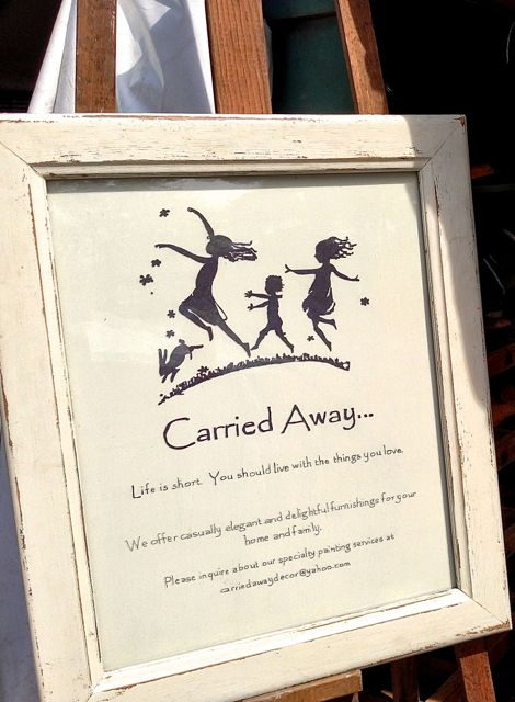 Carried Away Antiques sign