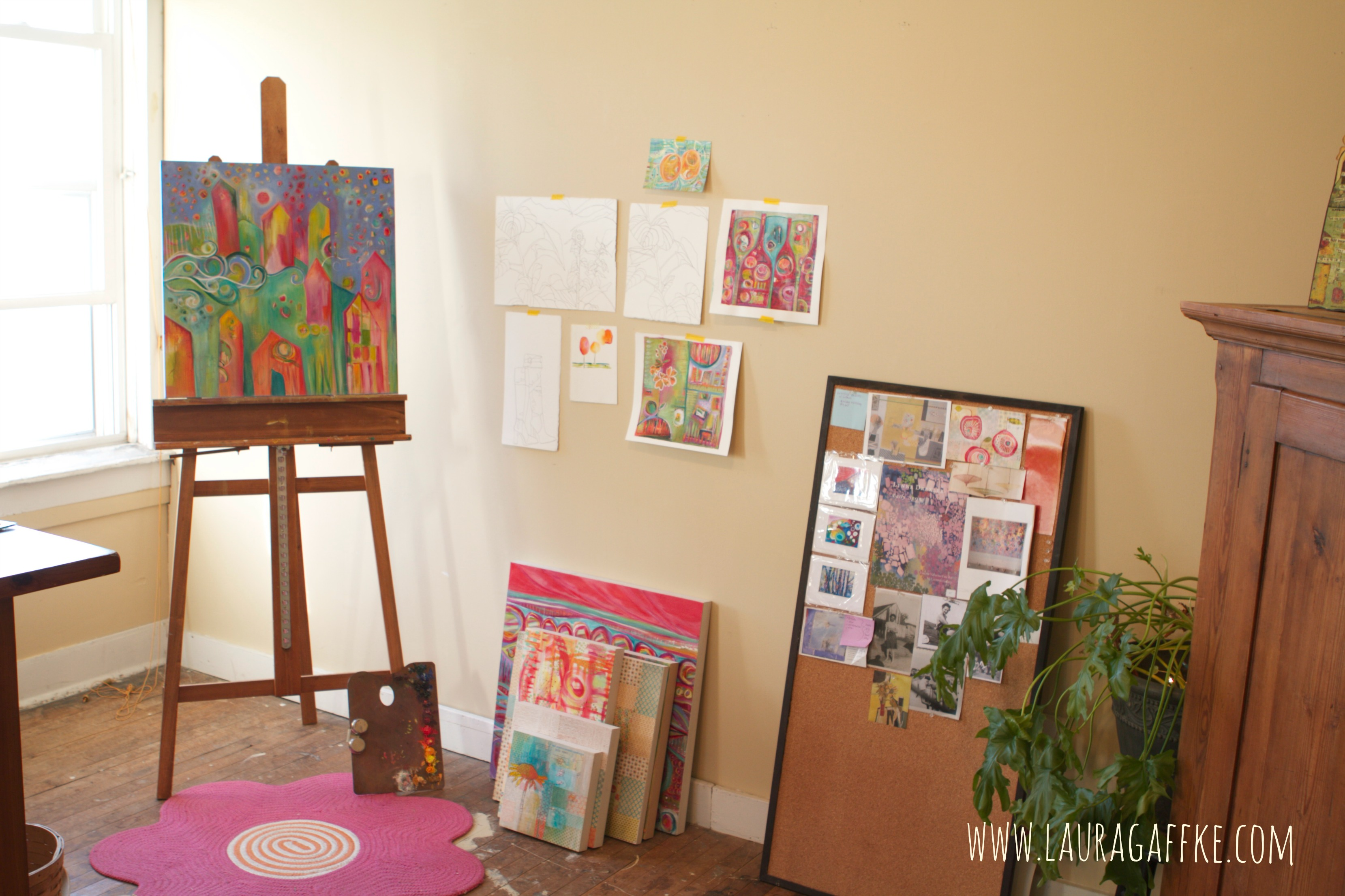 easel.inspiration wall