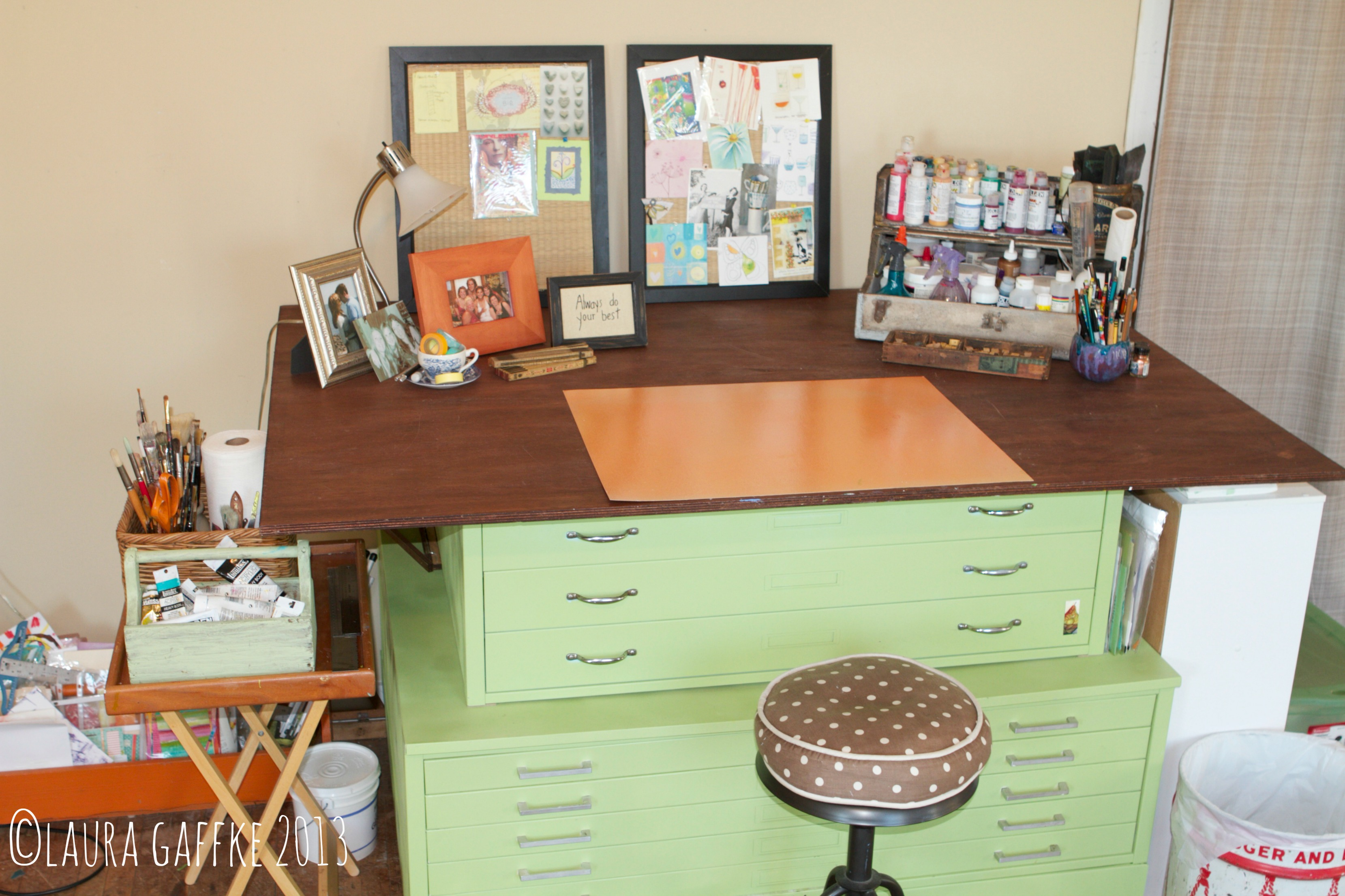 laura's studio desk