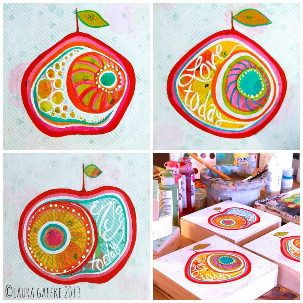 happy apple collage.joyful simplicity