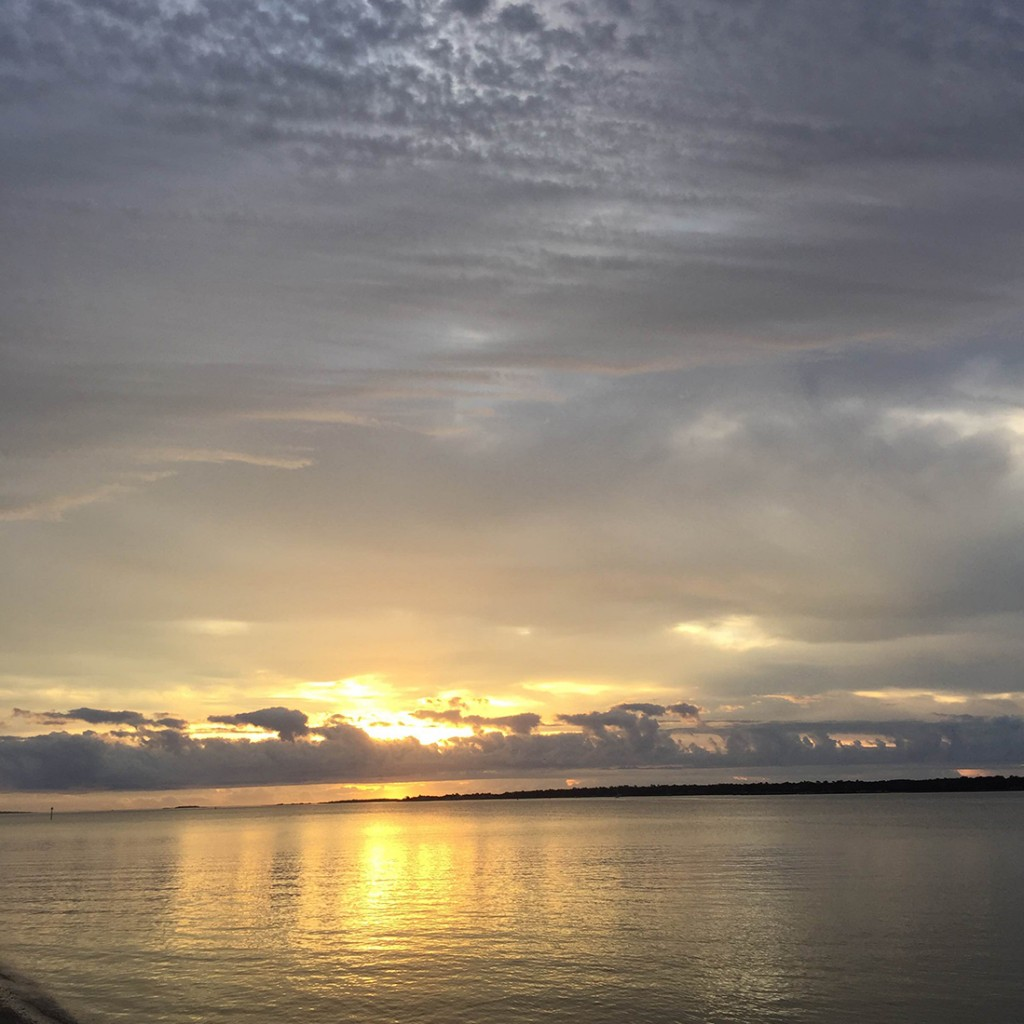Sunrise over Charleston Harbor December 2015