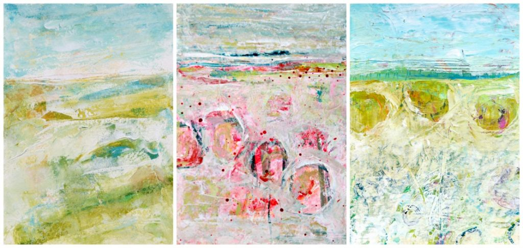 three landscape collage
